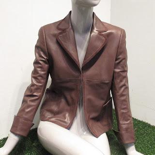 Akris for Bergdorf Goodman Brown Lambskin Jacket