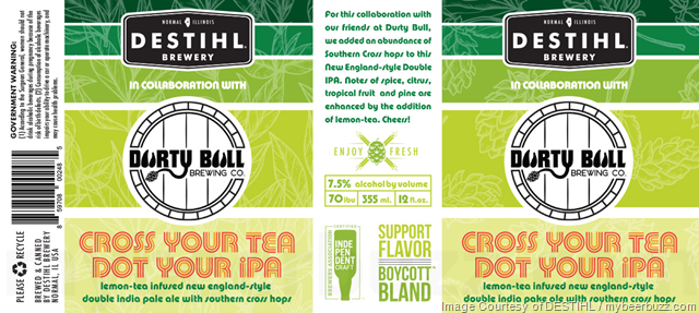 DESTIHL & DUrty Bull Brewing Collaborate On Cross Your Tea And Dot Your IPA