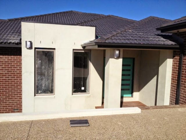 Boral Barwon brick Colorbond Monument Colorbond Dune Feature render Eco Garage Doors Ribline profile