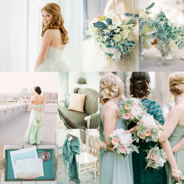 Teal And Mint Green Wedding Inspiration