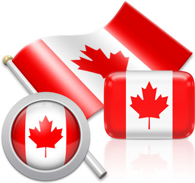 Canadian flag icons pictures collection