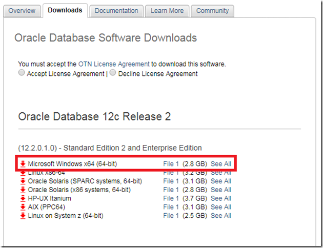 Install Oracle Database 12c (12 2 0 1 0 ) on Windows