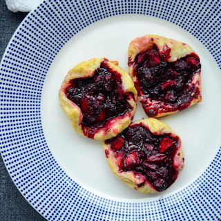 Dewberry and Apple Puff Pastry Tarts.
