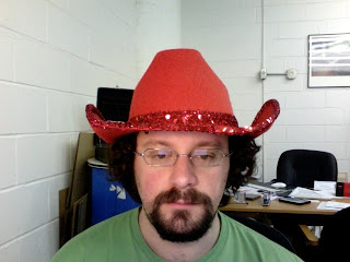 Silly Hats Only: Red Sequin-Encrusted Cowboy Hat