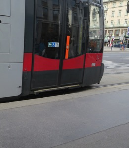 Gap at front of tram