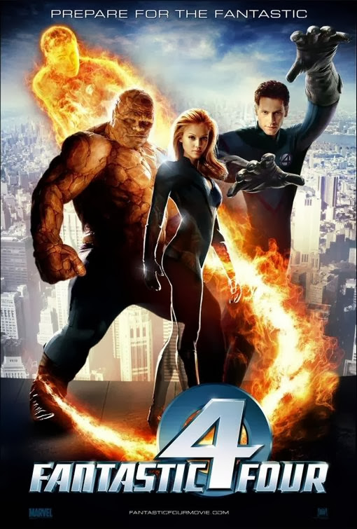 Poster Of Fantastic Four (2005) Full Movie Hindi Dubbed Free Download Watch Online At Alldownloads4u.Com