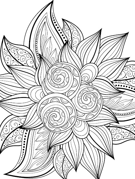 Free Printable Coloring Pages Designs With Color Sheets For Adults   Crafts To Print