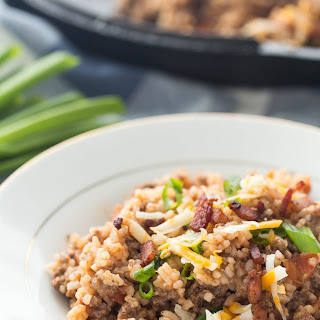 One Pot BBQ Bacon Cheeseburger Rice (30 Minute Thursday!)