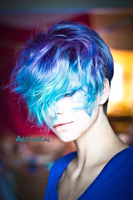 Hair:short hairstyles with different colors for 2018 5
