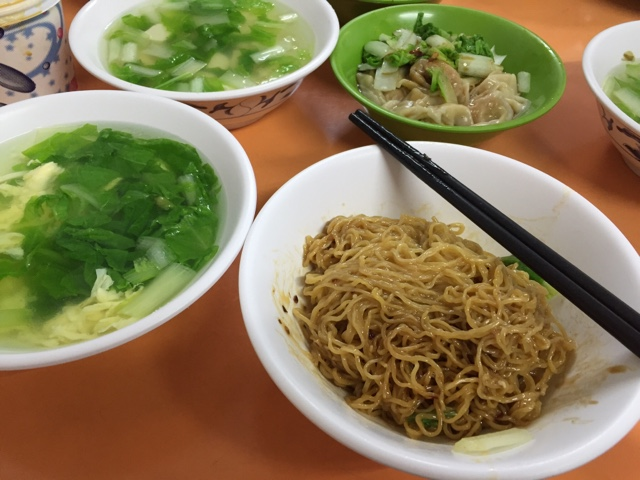 Noodle set meal in Taipei Taiwan