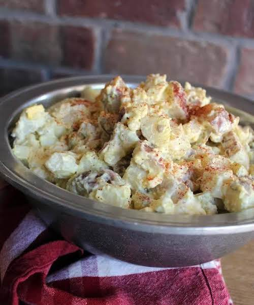"Johnnie's Simple Potato Salad ""Creamy, simple and delicious! This potato salad has..."