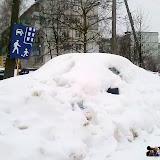Этот сугроб на улице Тульская в скором времени подтаял, и стала видна вполне себе нормальная автомашина.