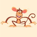 Cartoon Cool Monkey Illustration Free Download Vector CDR, AI, EPS and PNG Formats