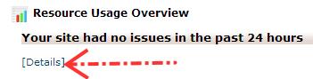 Klik tombol details untuk melihat info resource server secara lengkap
