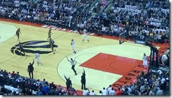 NBA Basketball game with Toronto Raptors playing Indiana Pacers