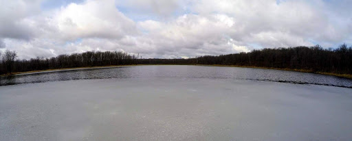 Just a small section of ice on south Twin Lake