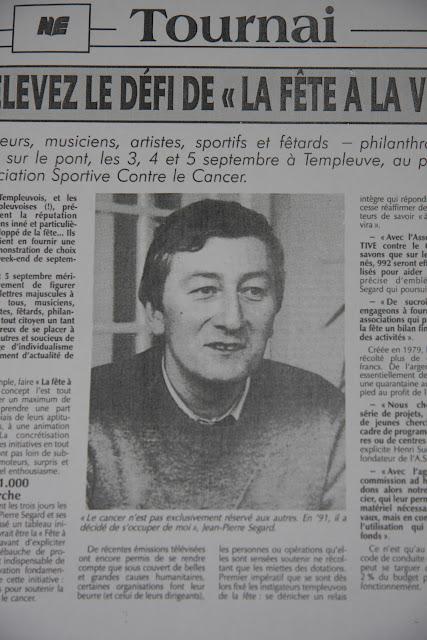 Articles de presse : encore merci Jean-Pierre pour avoir donné vie à la Fête à la Vie!