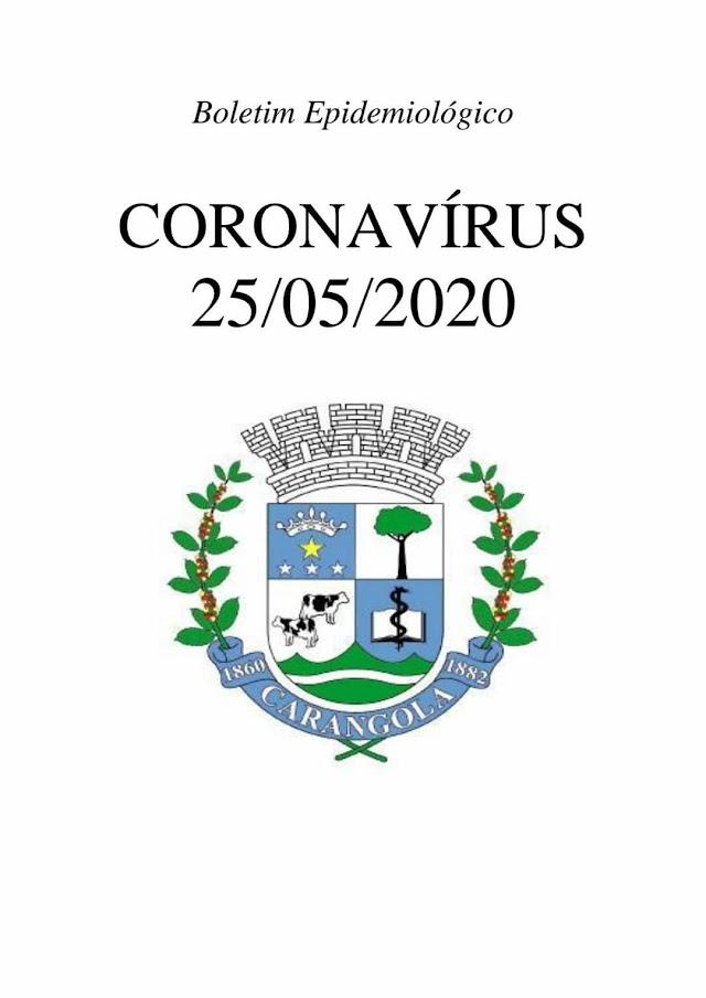 Carangola possui 61 casos confirmados do novo Coronavírus e 01 óbito