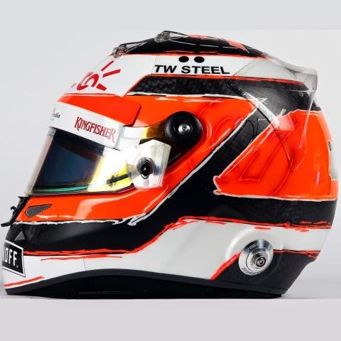 Il casco di Nico Hulkenberg, semplice ma accattivante