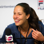STUTTGART, GERMANY - APRIL 19 : Ana Ivanovic talks to the media at the 2016 Porsche Tennis Grand Prix
