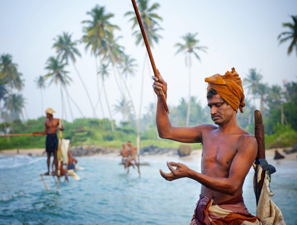 Fisherman Stilt fishing