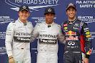 Top 3 qualifiers: 1. Hamilton 2. Rosberg 3. Ricciardo