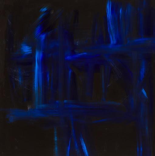 Blue Like Jazz 44x44 - Acrylic and resin on wood. Artist Manny Martins-Karman