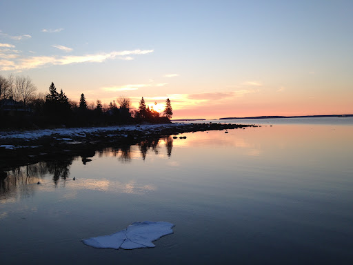 Sunrise on Herrick Bay, Brooklin. Photo by Karen Hill