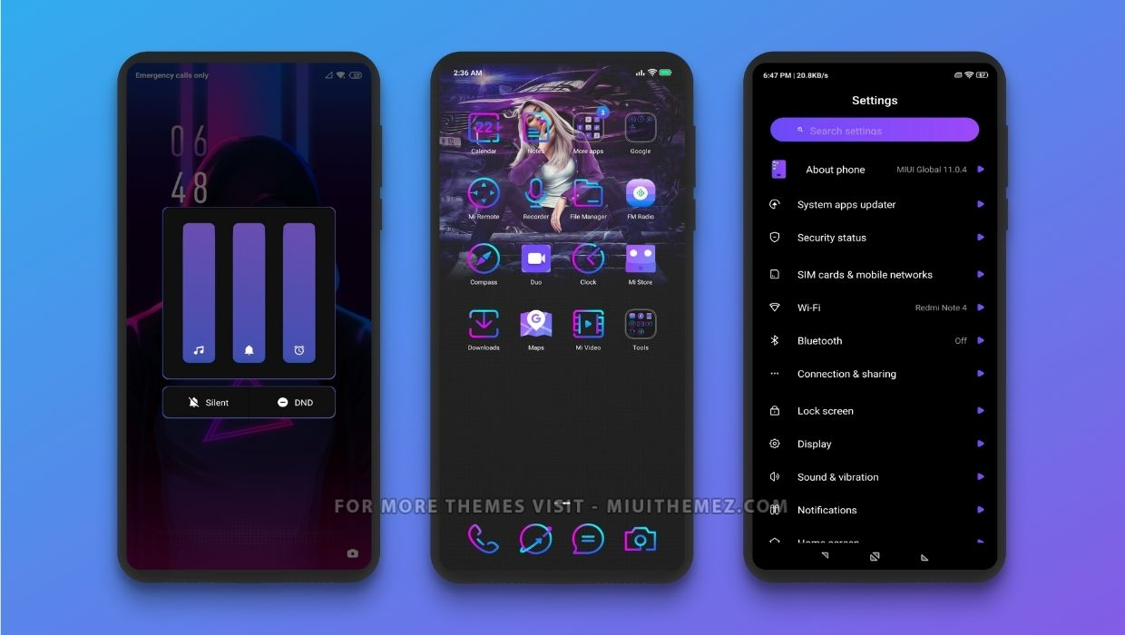 Violet And Blue MIUI Theme