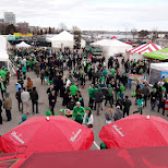 the crowd at st. party's day in Toronto, Ontario, Canada