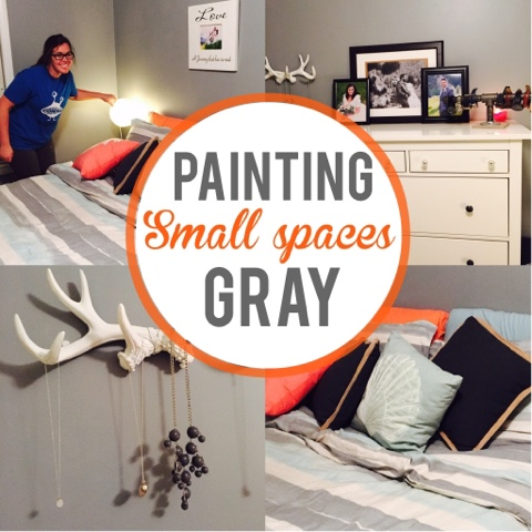 Painting small master bedroom gray, small space decorating