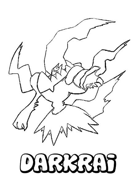 Darkrai Pokemon Coloring Page