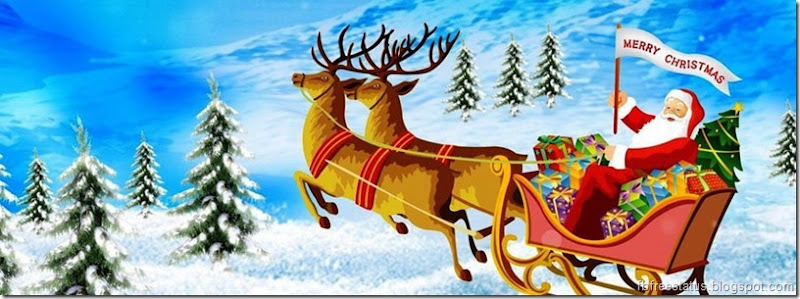merry christmas Facebook cover HD Images