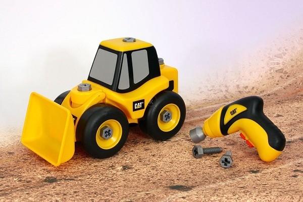 xe xúc đất CAT và dụng cụ lắp ráp