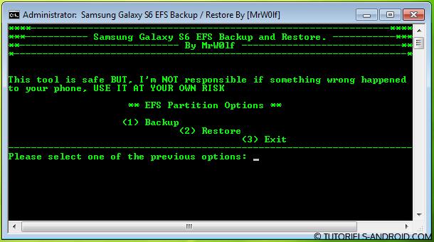 GALAXY S6 EFS Backup/Restore