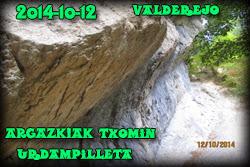 Txomin Urdampilleta hautapena Valderejo