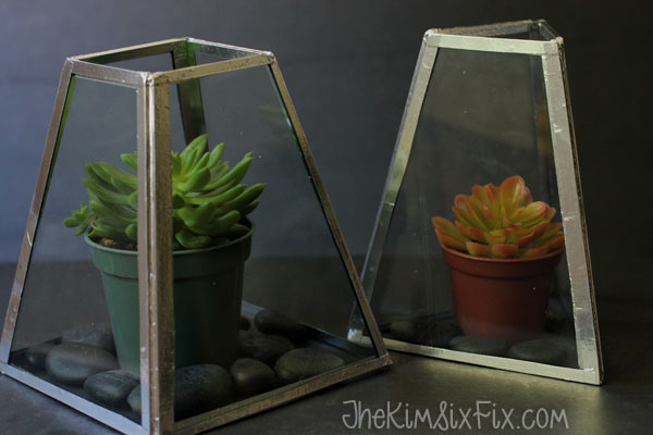 Chandelier glass terrarium