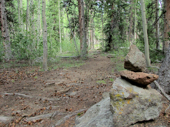 Cairn along the trail