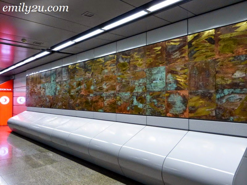 Art in Transit North East Line MRT Singapore