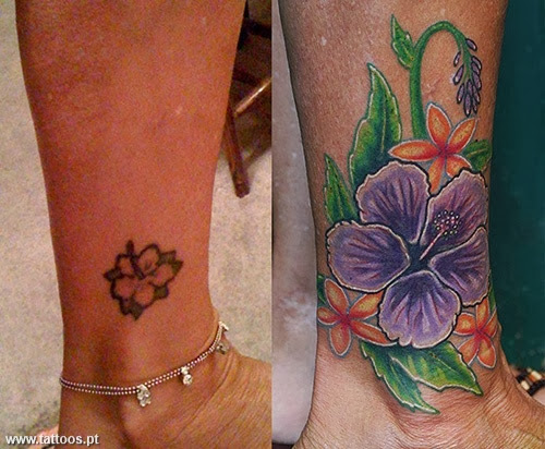 Tattoos e tatuagens de cover up for Ankle tattoo cover ups