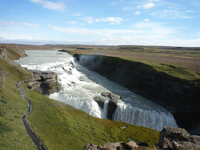 gollfoss waterfall river