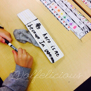 photo of sentence writing