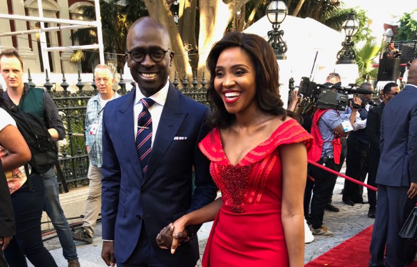 Former Finance Minister Malusi Gigaba and his wife Norma. File photo.