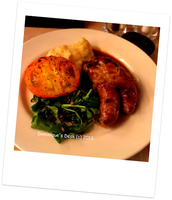 Sausage and Mash potato