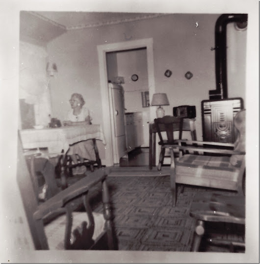 SEPIA SATURDAY ~ My Grandparents, Marie & Harry Gould enjoying their Lake Huron cottage home in Michigan–early 1950's