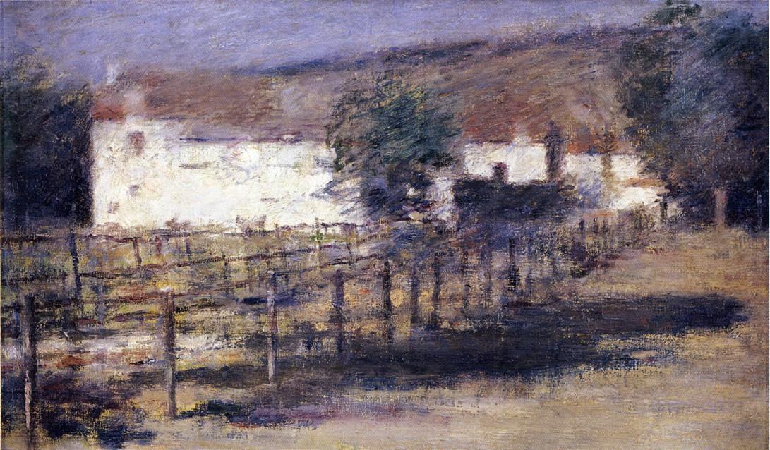 Theodore Robinson - Moonlight, Giverny-1892