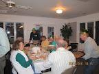 Members enjoy dinner