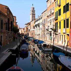 Venice by Cristiana Chivarria - City,  Street & Park  Historic Districts ( venice, boat, canal )