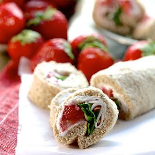 Strawberry and Turkey Pinwheels Recipe