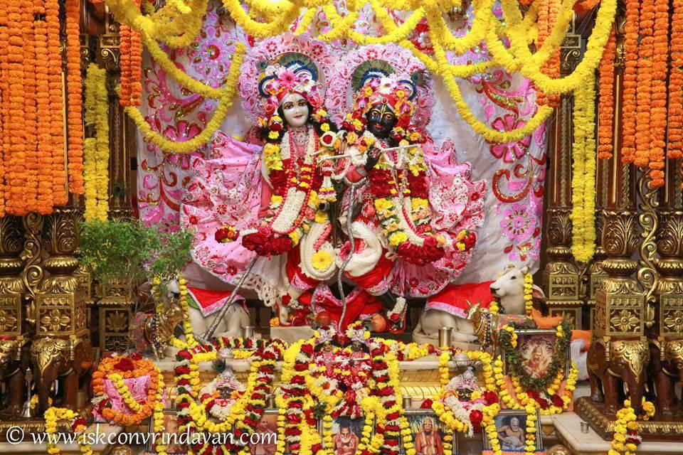 ISKCON Vrindavan Sringar Deity Darshan 06 Jan 2016 (7)